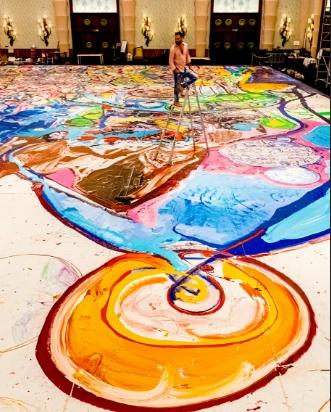 Dubai, il dipinto più grande al mondo